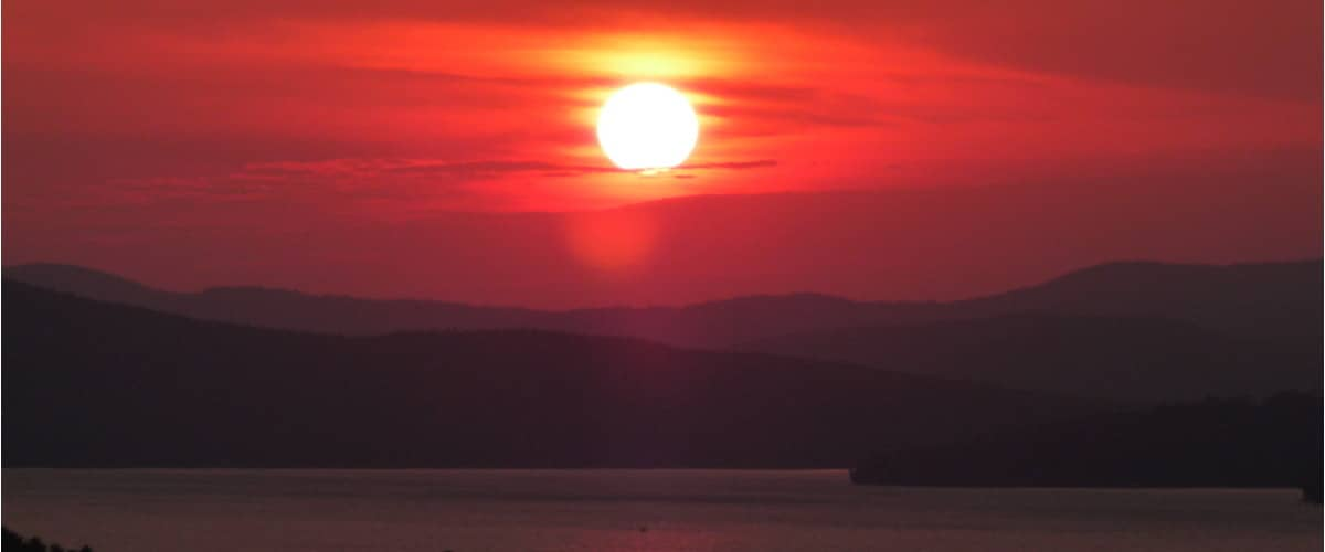 Sunset in Rangeley, Maine