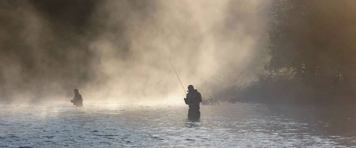 Fly fishing in Rangeley, Maine